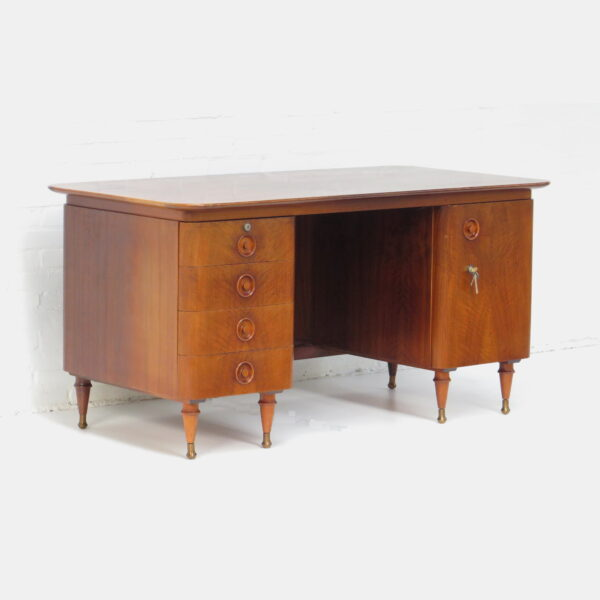 Mid Century Art Deco Style Walnut, Art Deco Style Writing Desk